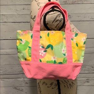 Lilly Pulitzer Lemon 🍋 Lime Print Canvas Bag